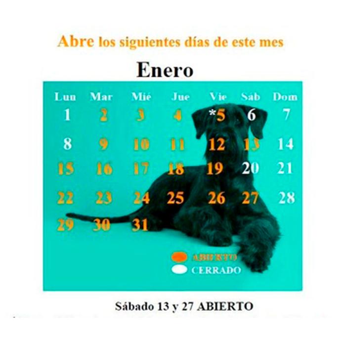 CALENDARIO ENERO 18
