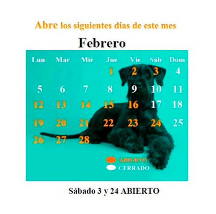 CALENDARIO FEBRERO 18